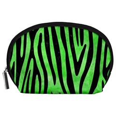 Skin4 Black Marble & Green Watercolor Accessory Pouches (large)