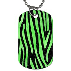 Skin4 Black Marble & Green Watercolor (r) Dog Tag (one Side)