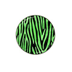 Skin4 Black Marble & Green Watercolor (r) Hat Clip Ball Marker