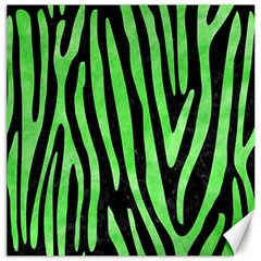 Skin4 Black Marble & Green Watercolor (r) Canvas 12  X 12