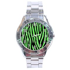 Skin4 Black Marble & Green Watercolor (r) Stainless Steel Analogue Watch