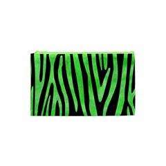 Skin4 Black Marble & Green Watercolor (r) Cosmetic Bag (xs)