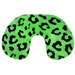Skin5 Black Marble & Green Watercolor Travel Neck Pillows