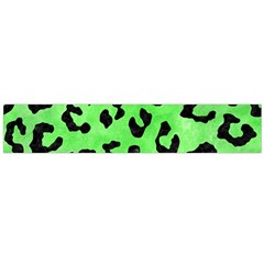 Skin5 Black Marble & Green Watercolor Flano Scarf (large)