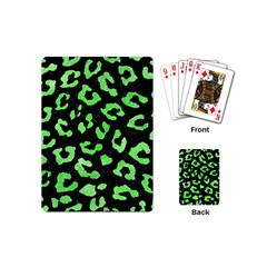 Skin5 Black Marble & Green Watercolor (r) Playing Cards (mini)
