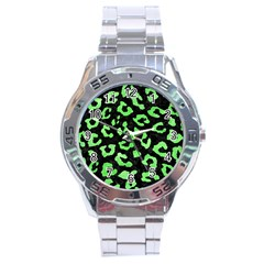Skin5 Black Marble & Green Watercolor (r) Stainless Steel Analogue Watch