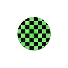 Square1 Black Marble & Green Watercolor Golf Ball Marker (10 Pack)