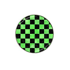 Square1 Black Marble & Green Watercolor Hat Clip Ball Marker (4 Pack)