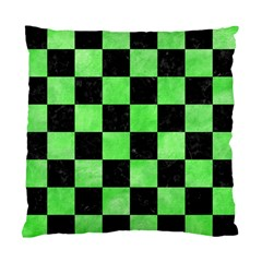 Square1 Black Marble & Green Watercolor Standard Cushion Case (two Sides)