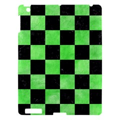 Square1 Black Marble & Green Watercolor Apple Ipad 3/4 Hardshell Case
