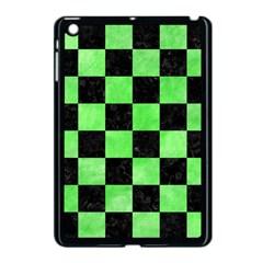 Square1 Black Marble & Green Watercolor Apple Ipad Mini Case (black)