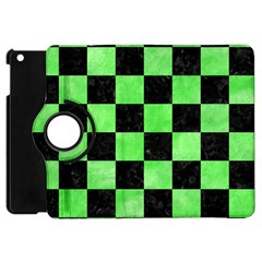 Square1 Black Marble & Green Watercolor Apple Ipad Mini Flip 360 Case