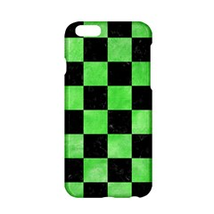 Square1 Black Marble & Green Watercolor Apple Iphone 6/6s Hardshell Case