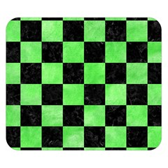 Square1 Black Marble & Green Watercolor Double Sided Flano Blanket (small)