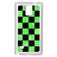 Square1 Black Marble & Green Watercolor Samsung Galaxy Note 4 Case (white)