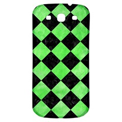 Square2 Black Marble & Green Watercolor Samsung Galaxy S3 S Iii Classic Hardshell Back Case