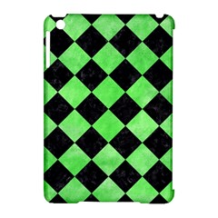 Square2 Black Marble & Green Watercolor Apple Ipad Mini Hardshell Case (compatible With Smart Cover)