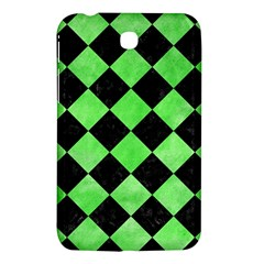 Square2 Black Marble & Green Watercolor Samsung Galaxy Tab 3 (7 ) P3200 Hardshell Case