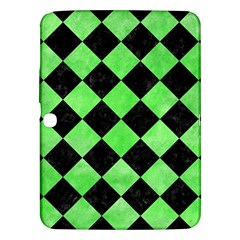 Square2 Black Marble & Green Watercolor Samsung Galaxy Tab 3 (10 1 ) P5200 Hardshell Case