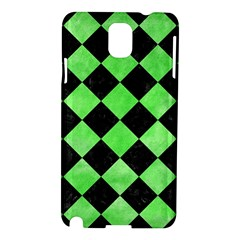 Square2 Black Marble & Green Watercolor Samsung Galaxy Note 3 N9005 Hardshell Case