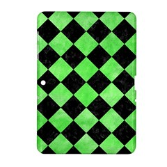 Square2 Black Marble & Green Watercolor Samsung Galaxy Tab 2 (10 1 ) P5100 Hardshell Case
