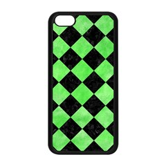 Square2 Black Marble & Green Watercolor Apple Iphone 5c Seamless Case (black)