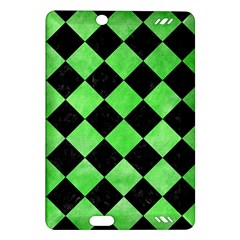 Square2 Black Marble & Green Watercolor Amazon Kindle Fire Hd (2013) Hardshell Case