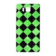 Square2 Black Marble & Green Watercolor Samsung Galaxy Alpha Hardshell Back Case