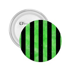 Stripes1 Black Marble & Green Watercolor 2 25  Buttons