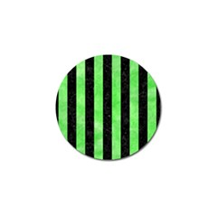 Stripes1 Black Marble & Green Watercolor Golf Ball Marker (10 Pack)