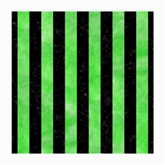 Stripes1 Black Marble & Green Watercolor Medium Glasses Cloth