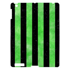 Stripes1 Black Marble & Green Watercolor Apple Ipad 3/4 Hardshell Case