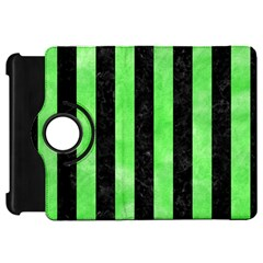 Stripes1 Black Marble & Green Watercolor Kindle Fire Hd 7