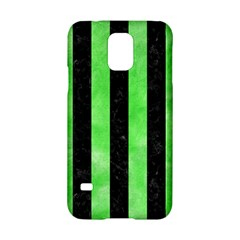 Stripes1 Black Marble & Green Watercolor Samsung Galaxy S5 Hardshell Case