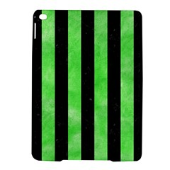 Stripes1 Black Marble & Green Watercolor Ipad Air 2 Hardshell Cases