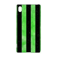 Stripes1 Black Marble & Green Watercolor Sony Xperia Z3+