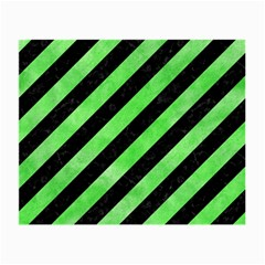 Stripes3 Black Marble & Green Watercolor Small Glasses Cloth (2 Side)