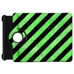 Stripes3 Black Marble & Green Watercolor Kindle Fire Hd 7