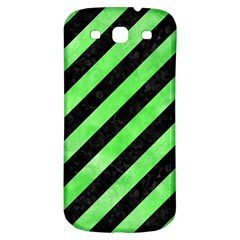 Stripes3 Black Marble & Green Watercolor Samsung Galaxy S3 S Iii Classic Hardshell Back Case
