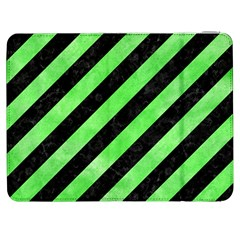 Stripes3 Black Marble & Green Watercolor Samsung Galaxy Tab 7  P1000 Flip Case
