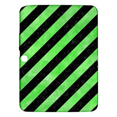 Stripes3 Black Marble & Green Watercolor Samsung Galaxy Tab 3 (10 1 ) P5200 Hardshell Case