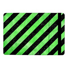 Stripes3 Black Marble & Green Watercolor Samsung Galaxy Tab Pro 10 1  Flip Case
