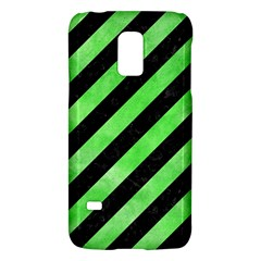 Stripes3 Black Marble & Green Watercolor Galaxy S5 Mini