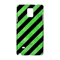 Stripes3 Black Marble & Green Watercolor Samsung Galaxy Note 4 Hardshell Case