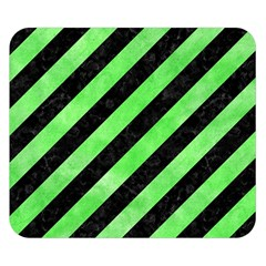Stripes3 Black Marble & Green Watercolor Double Sided Flano Blanket (small)