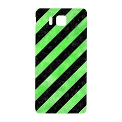 Stripes3 Black Marble & Green Watercolor Samsung Galaxy Alpha Hardshell Back Case