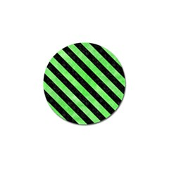 Stripes3 Black Marble & Green Watercolor (r) Golf Ball Marker (10 Pack)
