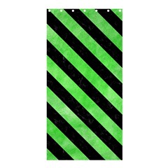 Stripes3 Black Marble & Green Watercolor (r) Shower Curtain 36  X 72  (stall)