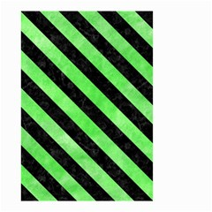 Stripes3 Black Marble & Green Watercolor (r) Small Garden Flag (two Sides)