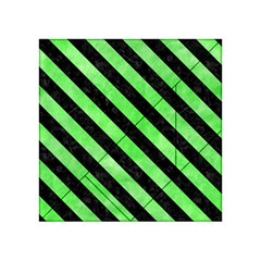Stripes3 Black Marble & Green Watercolor (r) Acrylic Tangram Puzzle (4  X 4 )